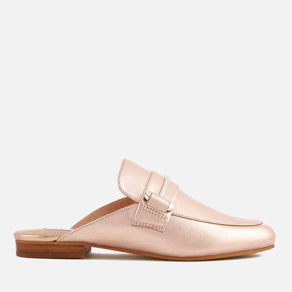 Steve Madden Women's Kera Leather Slide Loafers - Rose Gold