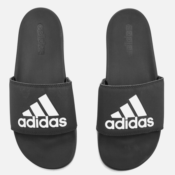 27adf7edb1803c adidas Men s Adilette Logo Slide Sandals - Core Black Sports ...