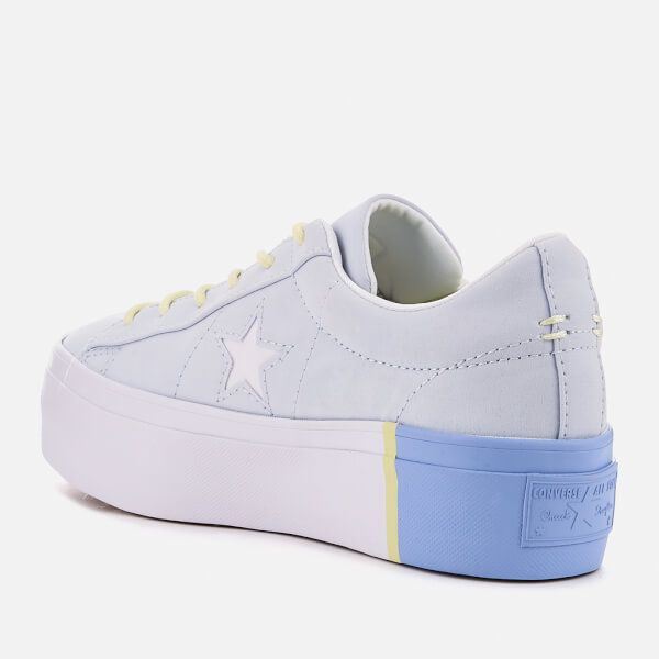 e9776226ef30 Converse Women s One Star Platform Ox Trainers - Blue Tint Blue Chill White