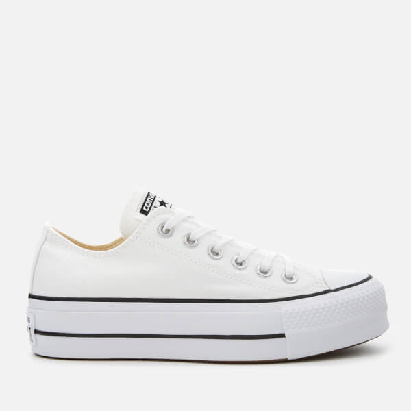e387ce6e48c Converse Women s Chuck Taylor All Star Lift Ox Trainers - White Black   Image 1