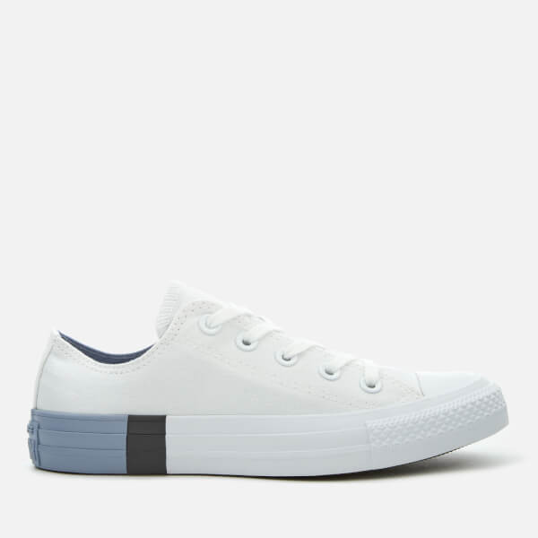 Converse Women's Chuck Taylor All Star Ox Trainers - White/Glacier Grey