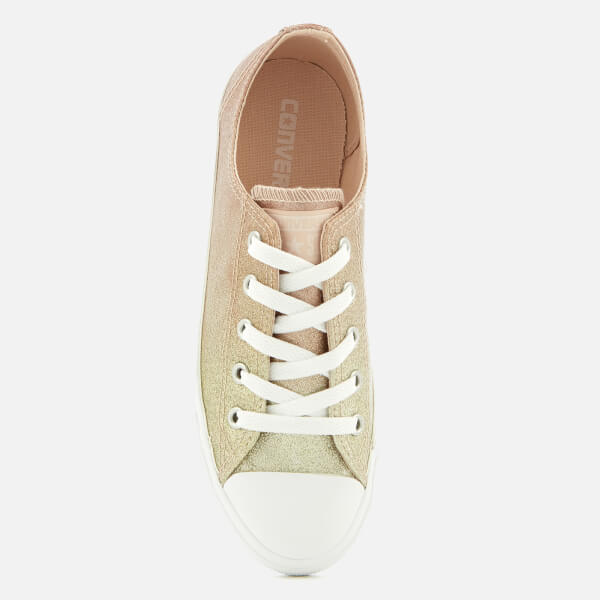 Converse Women s Chuck Taylor All Star Dainty Ox Trainers - Gold Particle  Beige White a08d6493a