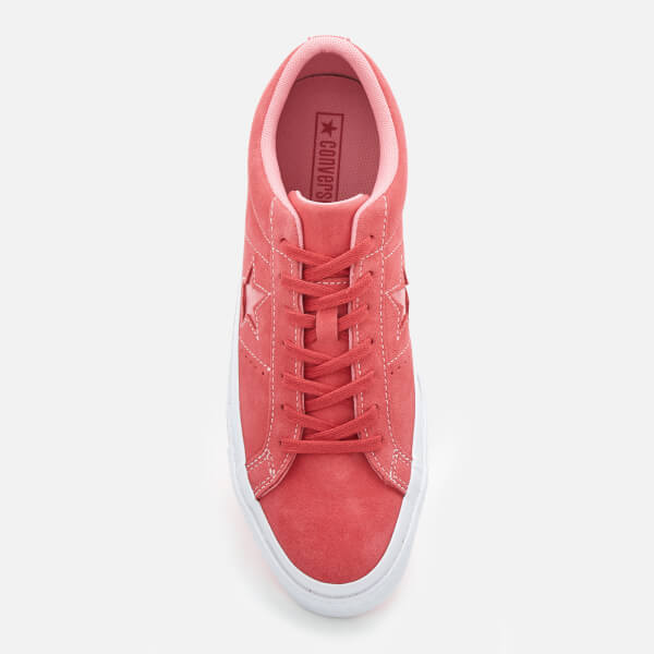 Converse One Star Ox Trainers - Paradise Pink Geranium Pink White  Image 3 2ef04a30d