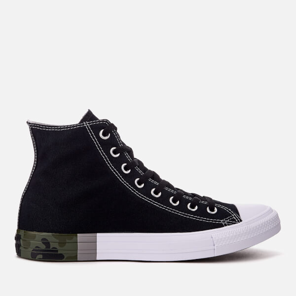d231bd980e61 Converse Men s Chuck Taylor All Star Hi-Top Trainers - Black Dolphin White