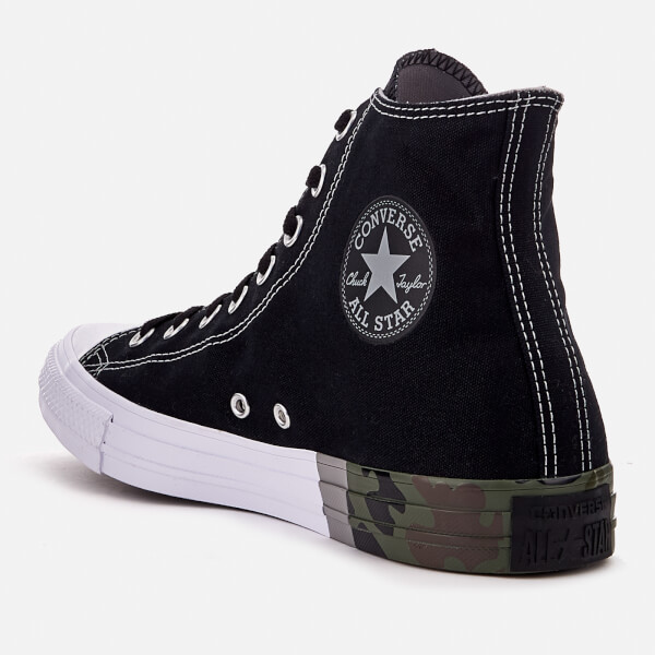 18c685356c2 Converse Men s Chuck Taylor All Star Hi-Top Trainers - Black Dolphin White