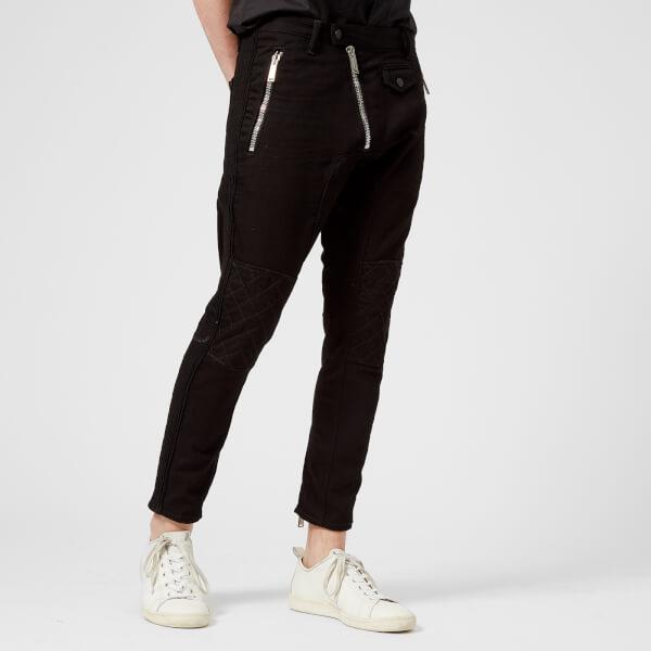 Dsquared2 Men's Black Bull Biker Fit Trousers - Black