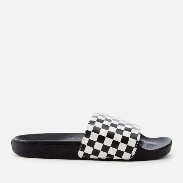 ff3066d98be4 Vans Men s Checkerboard Slide Sandals - White Mens Footwear