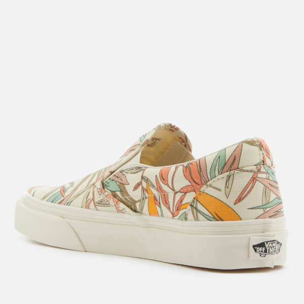 130812e7b6 Vans Women s California Floral Classic Slip-On Trainers - Marshmallow   Image 2