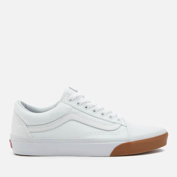 99b34af285fd Vans Men s Gum Bumper Old Skool Trainers - True White Mens Footwear ...