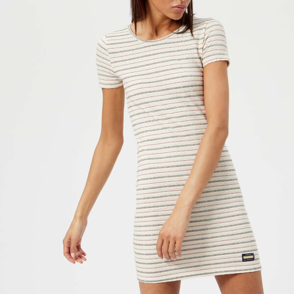 Footlocker Pictures Sale Online Superdry Women's Textured Pacific T-Shirt Dress - Cream - UK 8 - Cream Discount Clearance Cheap Sale Choice Clearance Hot Sale Hot Sale UQKoIyIkrL