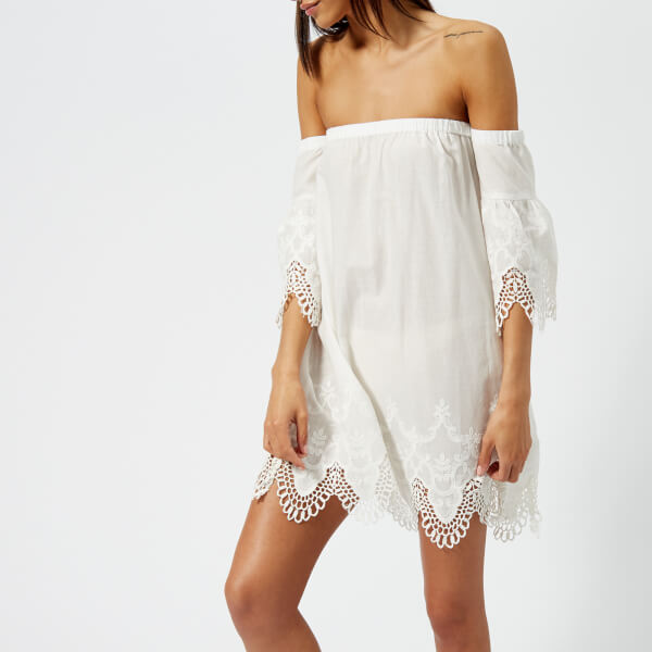 c2a04e9d42 MINKPINK Women s Charlotte Broderie Off the Shoulder Dress - White ...