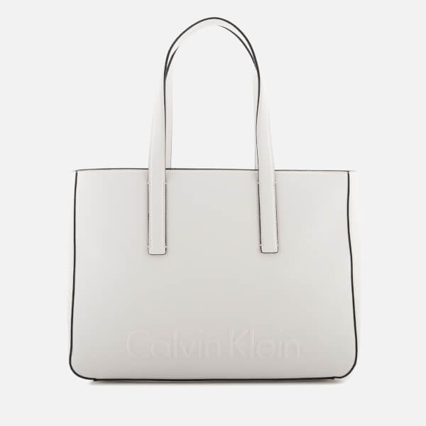 Calvin Klein Women's Edge Medium Shopper Bag - White