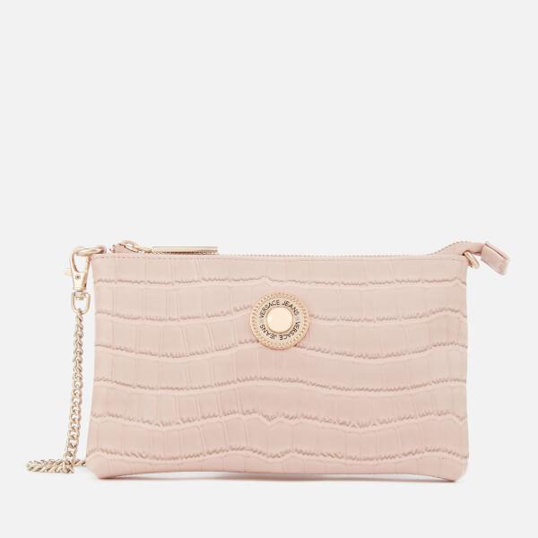 5cccc2c172 Versace Jeans Women s Croc Print Clutch Bag - Pink Womens ...