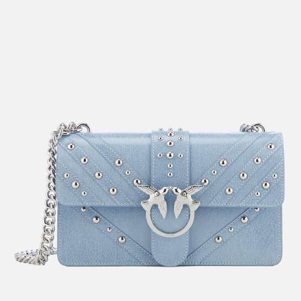 Pinko Women's Love Studs 3 Cross Body Bag - Blue