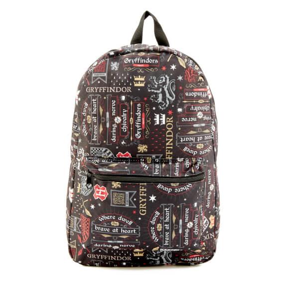 Harry Potter Gryffindor Icon Sublimated Backpack - Black