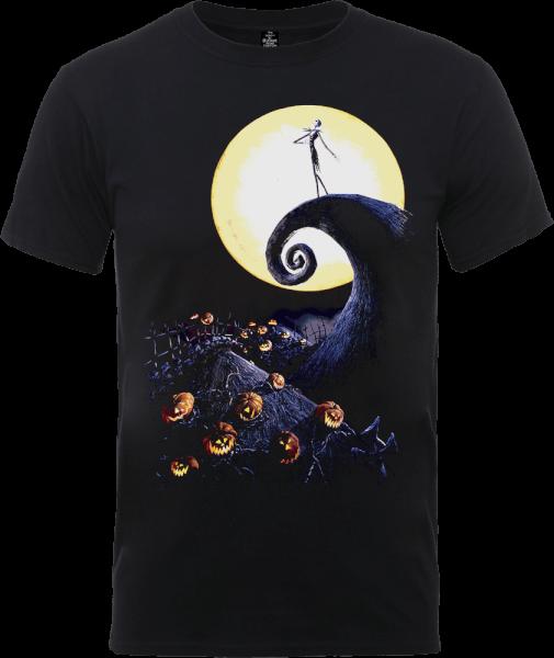 The Nightmare Before Christmas Jack Skellington Pumpkin King Colour Black T-Shirt