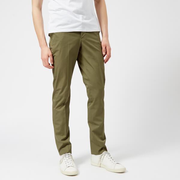 Officine Générale Men's Paul Cotton Twill Trousers - Olive