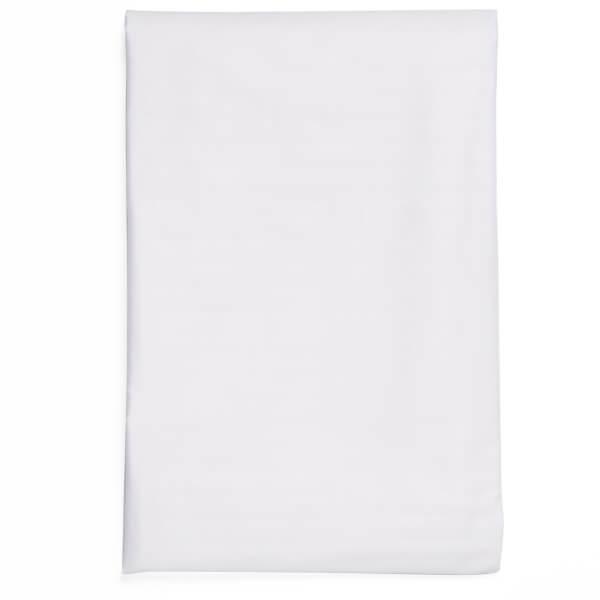Christy 400TC Sateen Flat Sheet - White