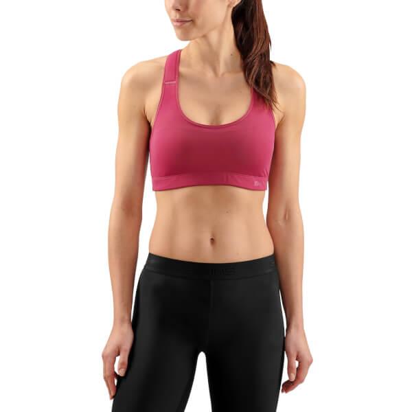 0591a14d8d757f Skins DNAmic Women s Flux Sports Bra - Claret Sports   Leisure ...