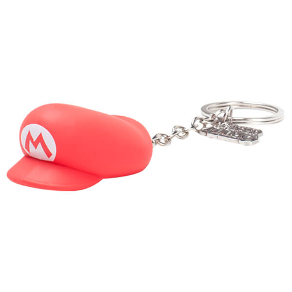Super Mario Hat - Rubber 3D Keychain