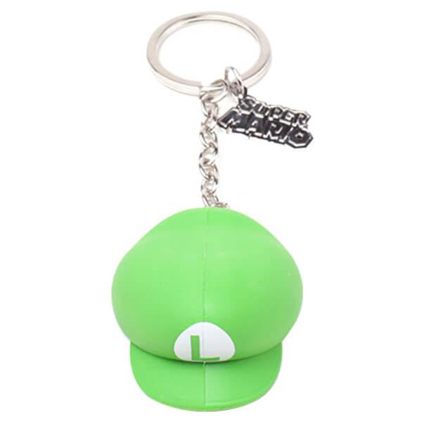 Luigi Hat - Rubber 3D Keychain