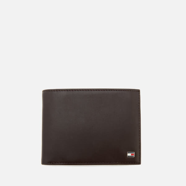 Tommy Hilfiger Men's Eton Credit Card Flap and Coin Wallet - Brown