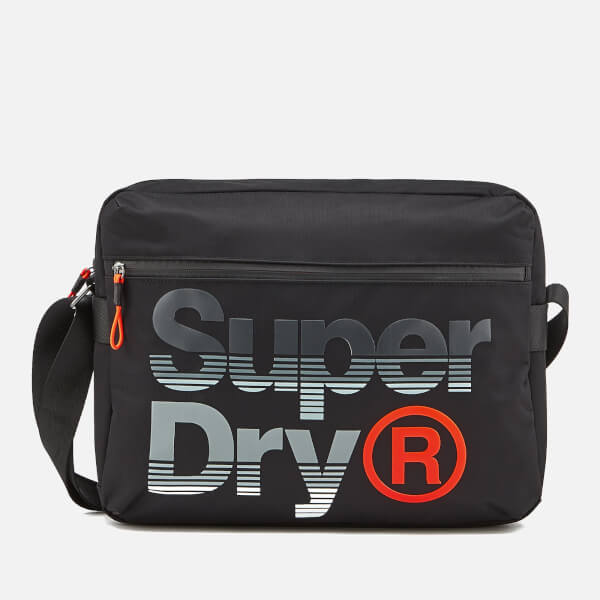 a5f649fbc9 Superdry Men s Expander Lineman Messenger Bag - Black Mens ...