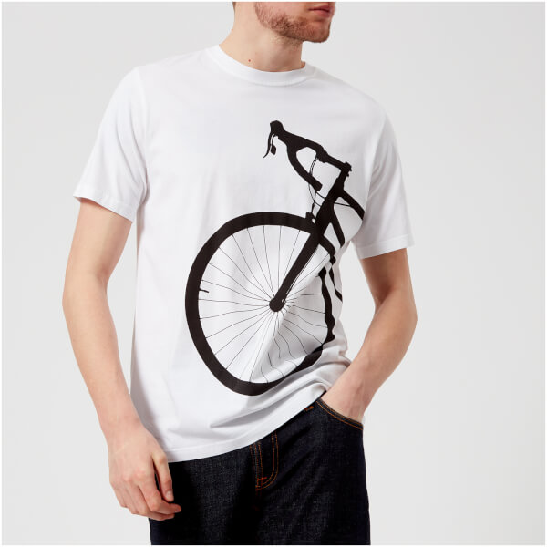 PS by Paul Smith Men's Regular Fit Bike T-Shirt - White