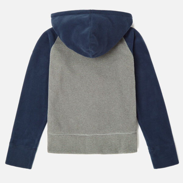 cb2649d898a The North Face Boys  Glacier Full Zip Hoodie - Mid Grey Cosmic Blue ...