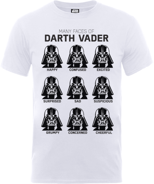 Star Wars Many Faces Of Darth Vader T-Shirt - White