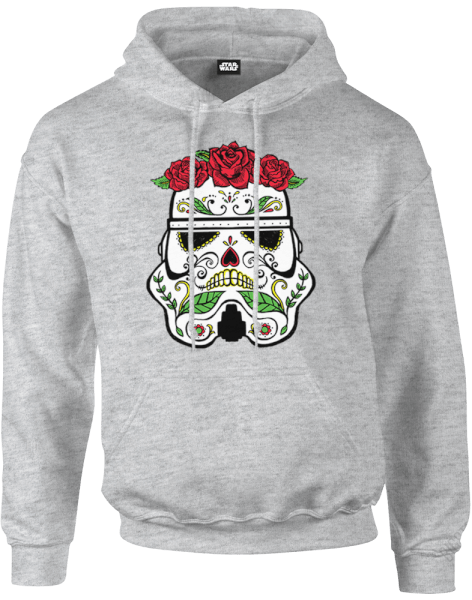 star wars day of the dead stormtrooper pullover hoodie grey merchandise zavvi us. Black Bedroom Furniture Sets. Home Design Ideas