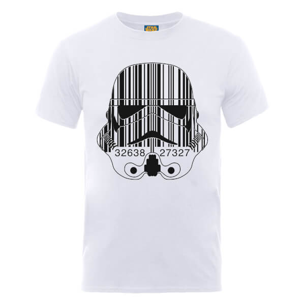 Star Wars Stormtrooper Barcode T-Shirt - White