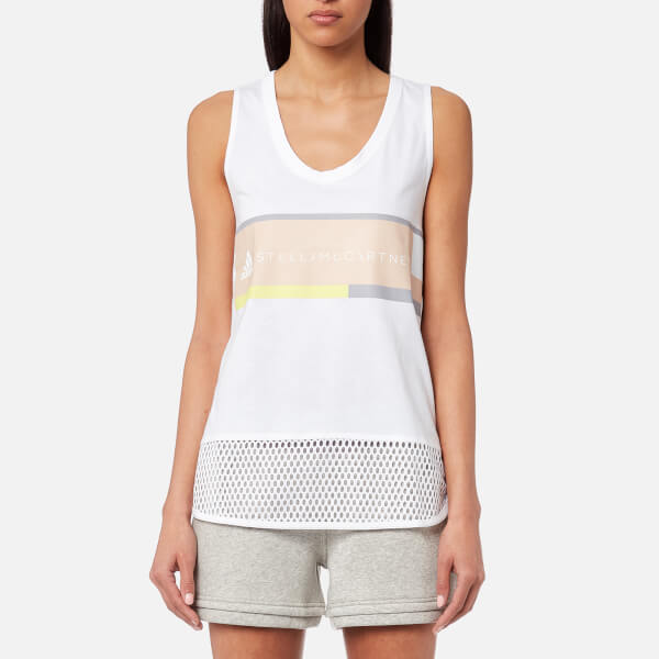 Stella Mccartney Woman Ribbed Cotton-jersey Tank Off-white Size 38 Stella McCartney New Style eWFhWZ