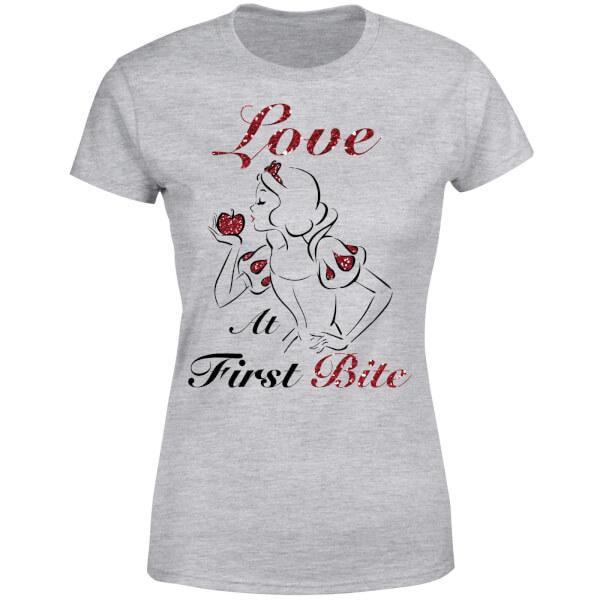 Disney Princess Snow White Love At First Bite Women's T-Shirt - Grey