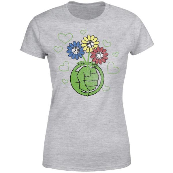 Marvel avengers hulk flower fist womens t shirt grey merchandise marvel avengers hulk flower fist womens t shirt grey view large image fandeluxe Gallery