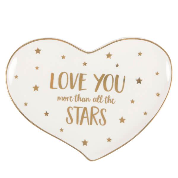 Sass & Belle Monochrome Love You Stars Jewellery Dish