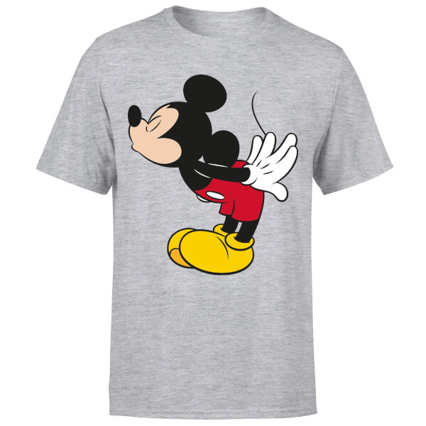 Disney Mickey Mouse Mickey Split Kiss T-Shirt - Grey