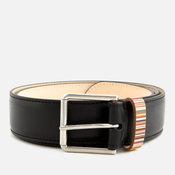 Paul Smith Accessories Men's Multistripe Keeper Belt - Black