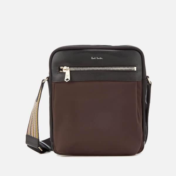 Paul Smith Accessories Men's Stripe Detail Crossbody Bag - Black