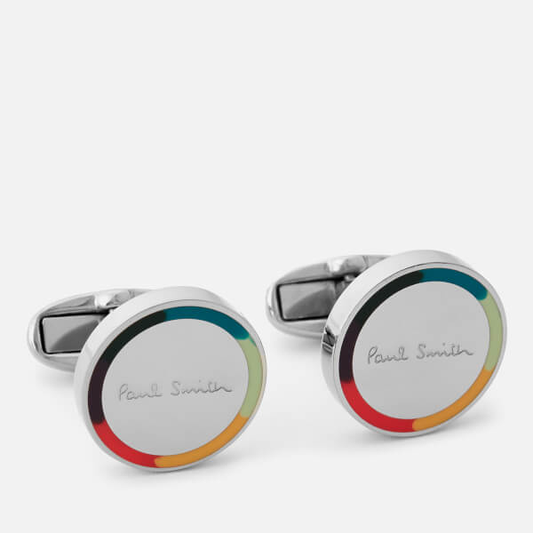 Paul Smith Accessories Men's Round Logo Cufflinks - Multi