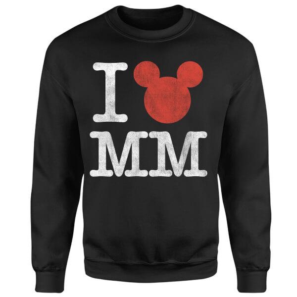 Disney Mickey Mouse I Heart MM Sweatshirt - Black