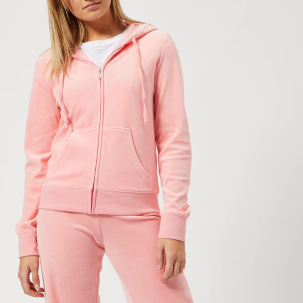 Juicy Couture Women s Track Velour Robertson Jacket - Sorbet Pink ... 4f07cad60f