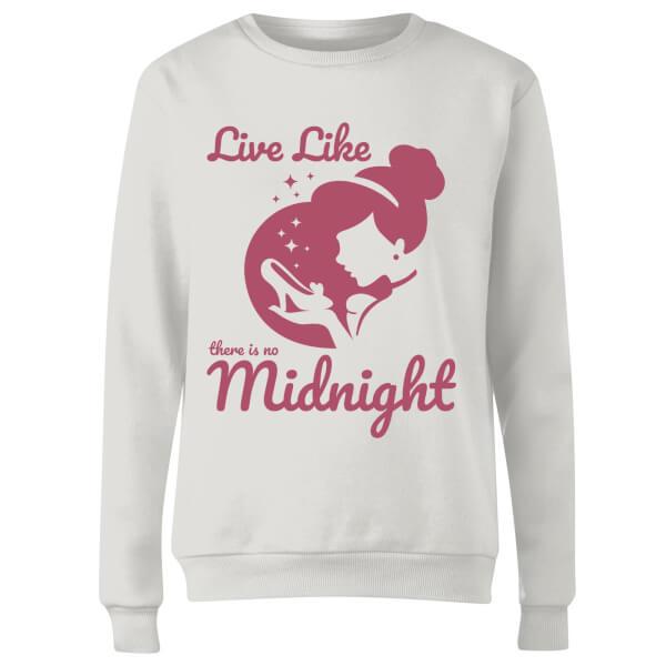 Disney Princess Midnight Women's Sweatshirt - White