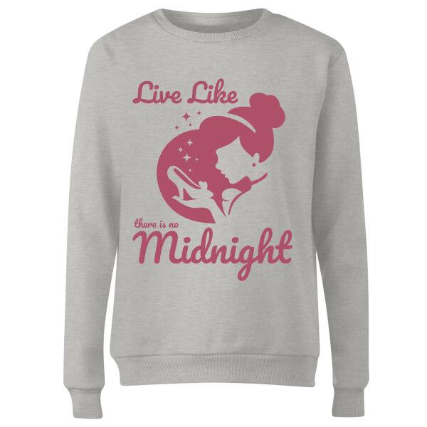 Disney Princess Midnight Women's Sweatshirt - Grey