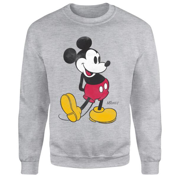 Disney Mickey Mouse Classic Kick Sweatshirt - Grey
