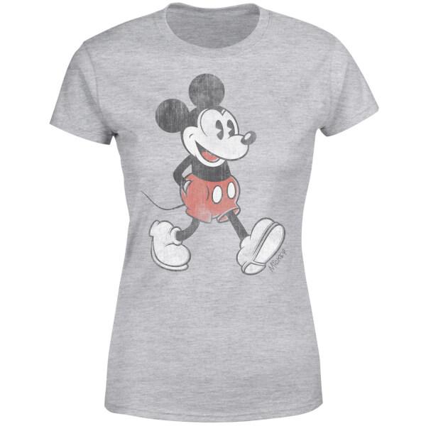 Disney Mickey Mouse Walking Women's T-Shirt - Grey