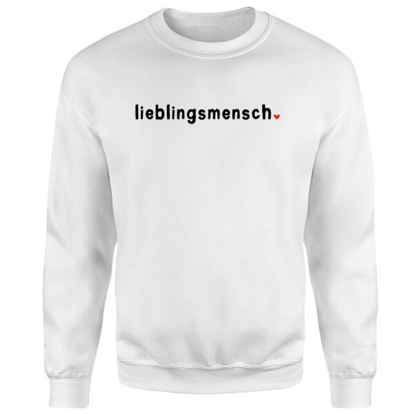 Lieblingsmensch Sweatshirt - White