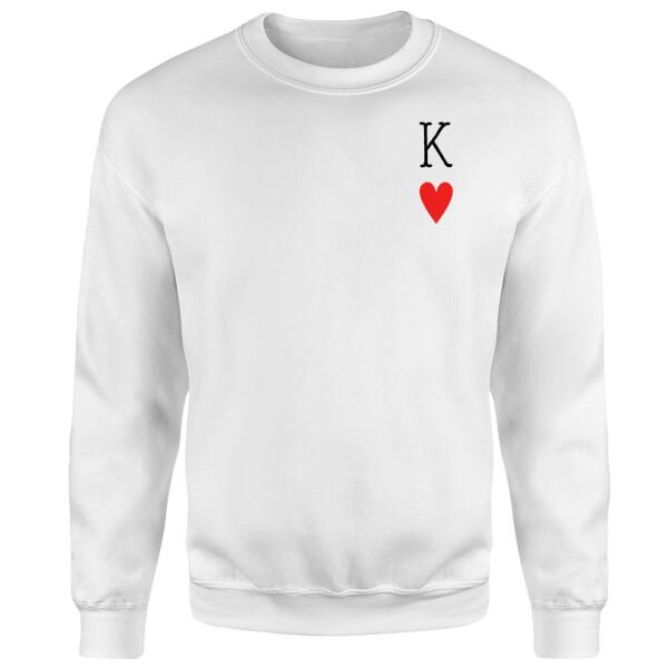 King Of Hearts Sweatshirt - White