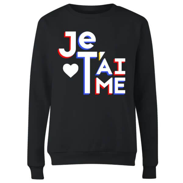 Je T'aime Women's Sweatshirt - Black