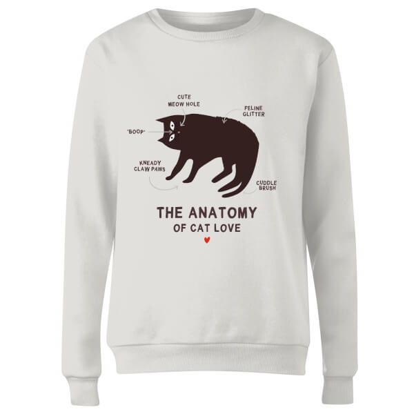 The Anatomy Of Cat Love Women's Sweatshirt - White